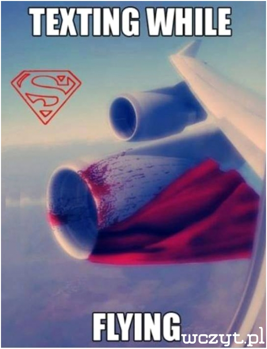 Nie uzywaj komórki w czasie lotu