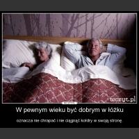 W pewnym wieku być dobrym w łóżku