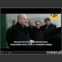 Łukaszenko na nowym dworcu