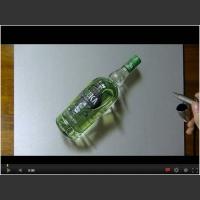 Timelapse z rysowania wódki.