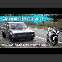 1000+HP VW Golf MK1 vs Yamaha R1